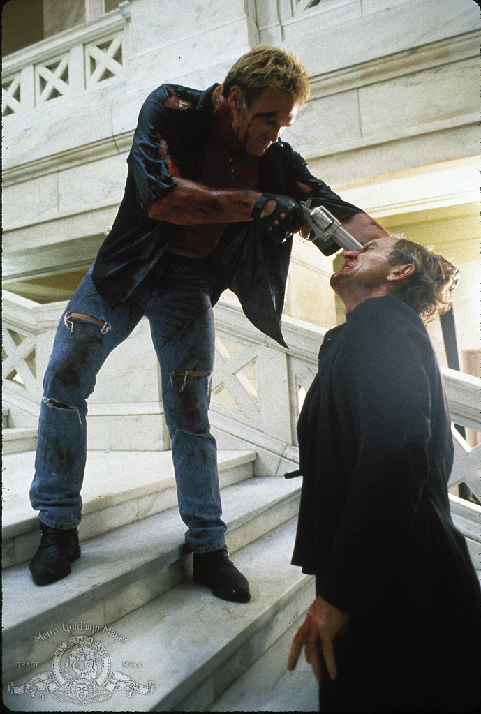 Lance Henriksen and Brian Bosworth in Stone Cold (1991)