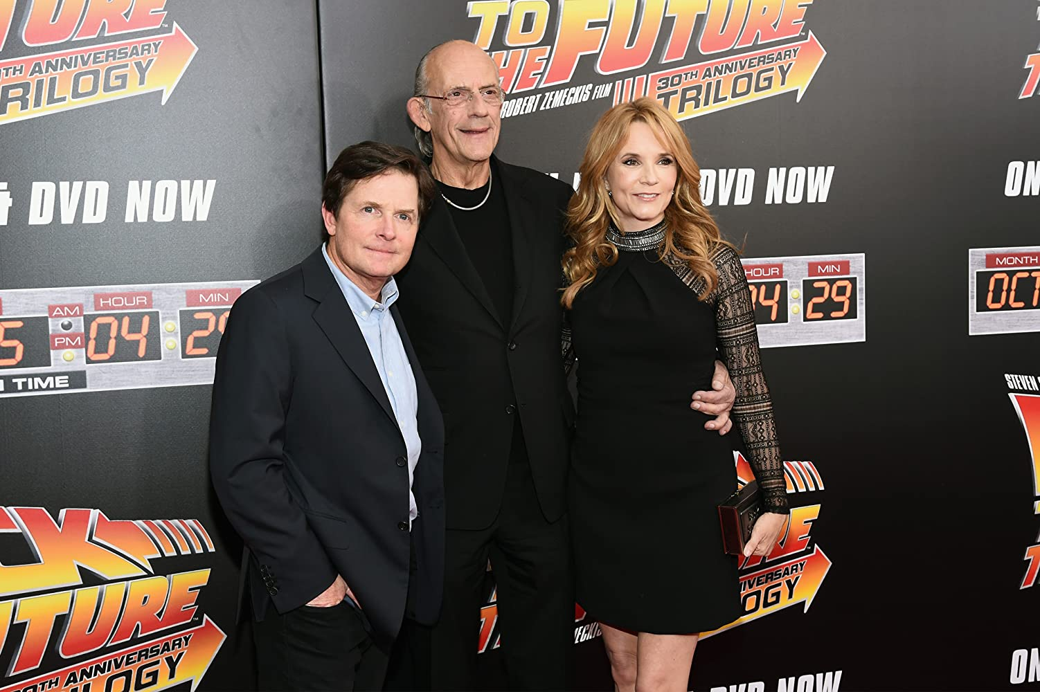 Michael J. Fox, Christopher Lloyd, and Lea Thompson at an event for Back to the Future (1985)