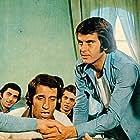 Tarik Akan, Halit Akçatepe, Semra Özdamar, and Kemal Sunal in Hababam Sinifi Sinifta Kaldi (1976)