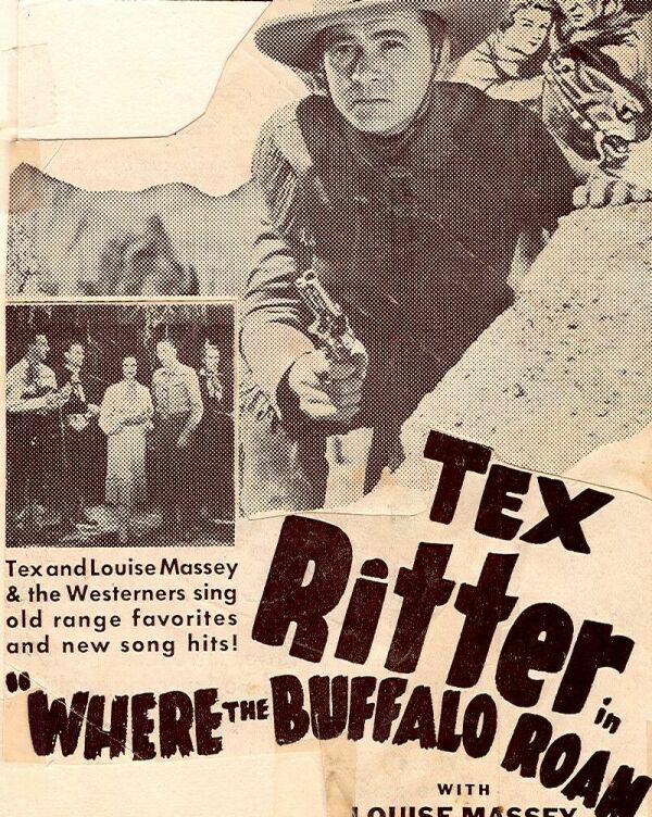 Louise Massey, Tex Ritter, and The Westerners in Where the Buffalo Roam (1938)