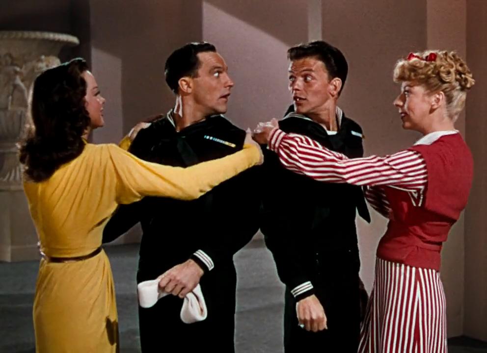 Gene Kelly, Frank Sinatra, Pamela Britton, and Kathryn Grayson in Anchors Aweigh (1945)