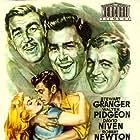 David Niven, Stewart Granger, Greta Gynt, and Walter Pidgeon in Soldiers Three (1951)