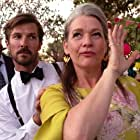 Kerry Fox, Huw Higginson, and Gwilym Lee in Top End Wedding (2019)