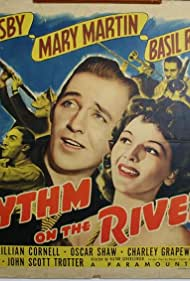 Bing Crosby, Basil Rathbone, Harry Barris, Lillian Cornell, Wingy Manone, and Mary Martin in Rhythm on the River (1940)