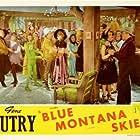 Gene Autry, Smiley Burnette, Rusty Cline, Dorothy Granger, Robert Hoag, Walt Shrum, Rudy Sooter, June Storey, Frank Wilder, Walt Shrum and His Colorado Hillbillies, Ace Dehne, and Tony Fiore in Blue Montana Skies (1939)