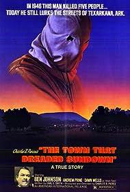 Bud Davis and Ben Johnson in The Town That Dreaded Sundown (1976)