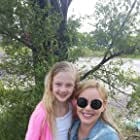 With Abbie Cornish on the set of LAVENDER.