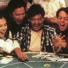Chow Yun-Fat, Andy Lau, Joey Wang, and Ronald Wong in Do san (1989)