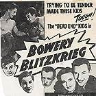 Leo Gorcey, Huntz Hall, Charlotte Henry, Warren Hull, and Bobby Jordan in Bowery Blitzkrieg (1941)