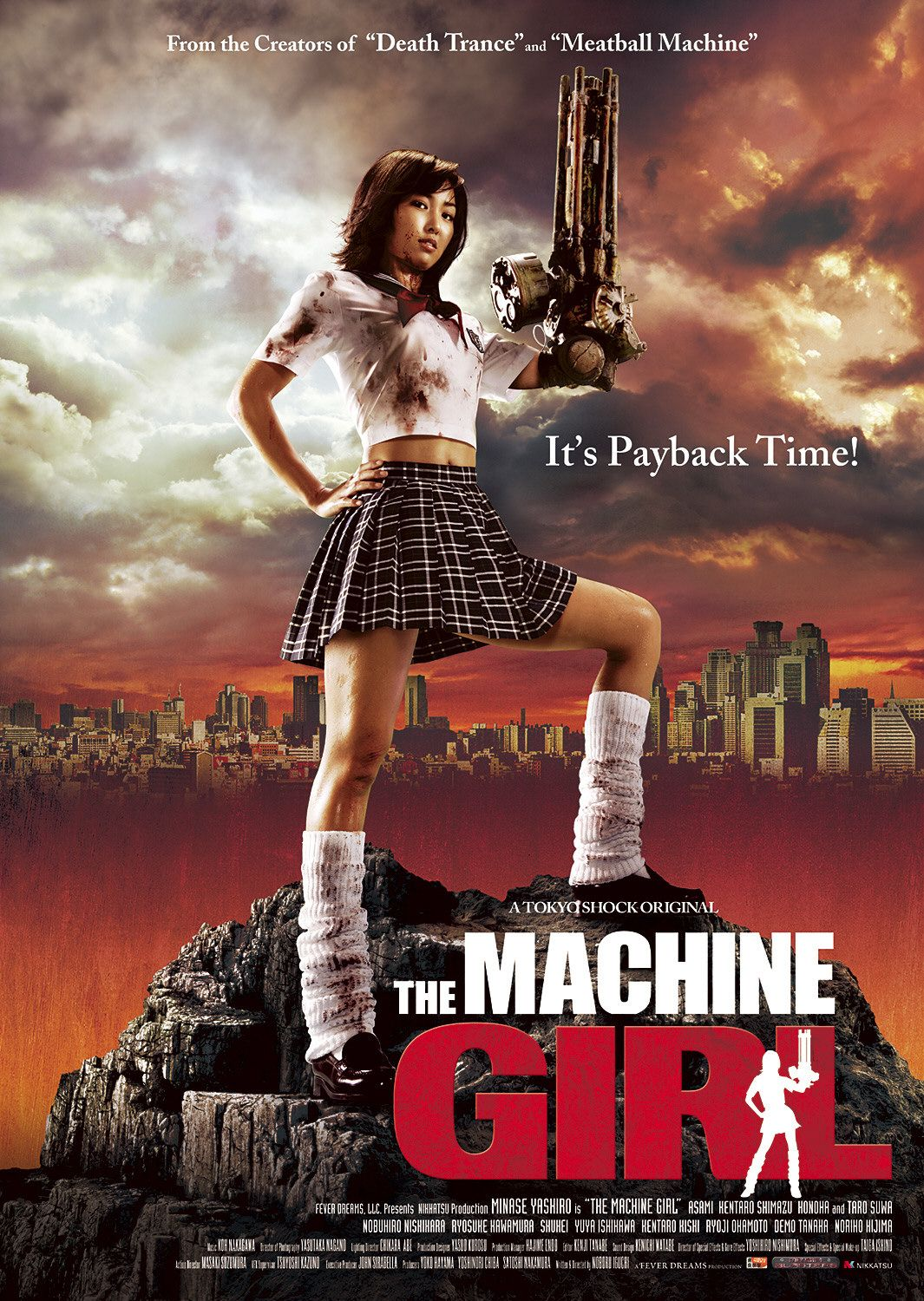 Teen girls with machines