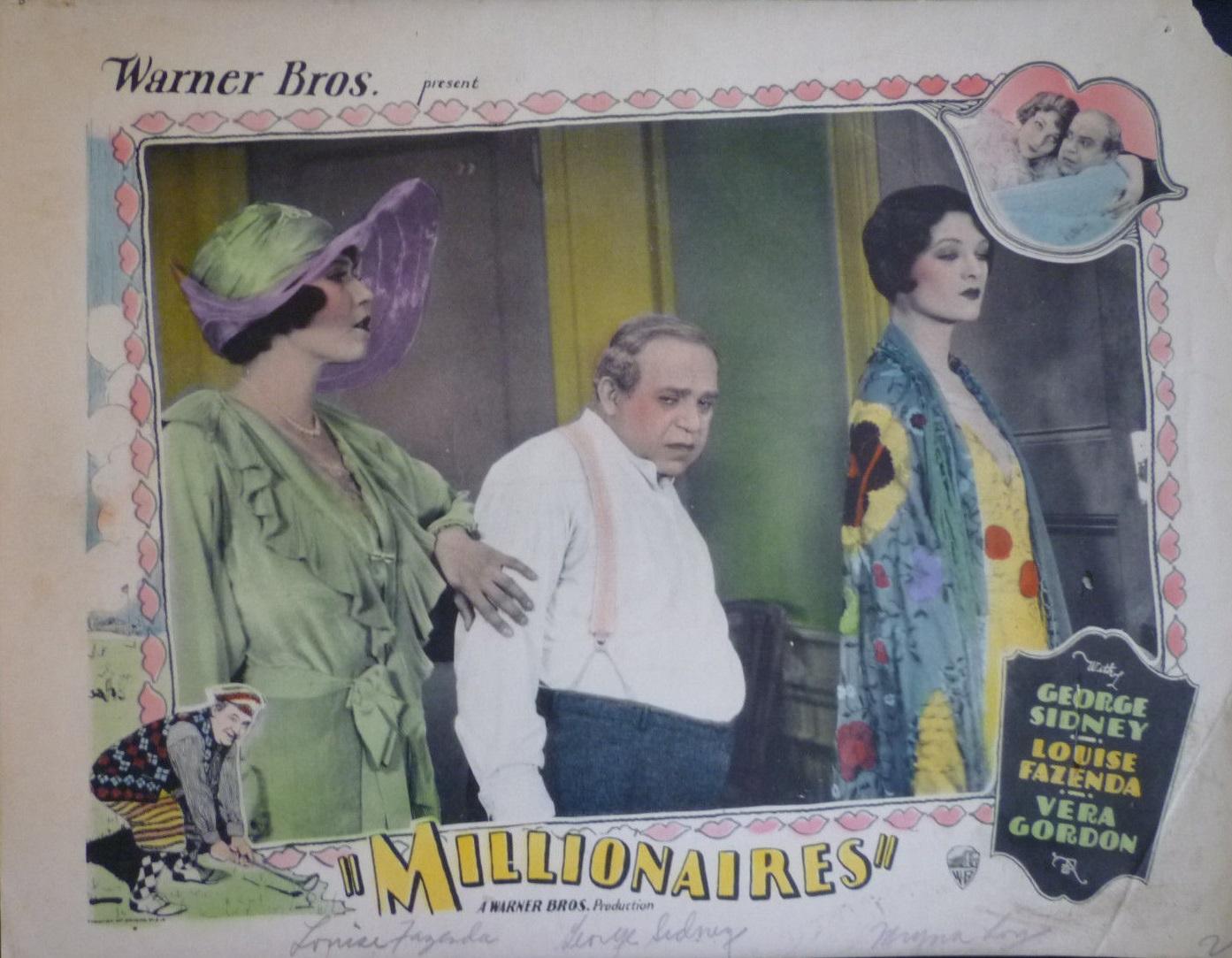 Louise Fazenda, Vera Gordon, and George Sidney in Millionaires (1926)