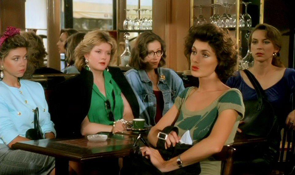 Danielle Gaudry, Sabine Haudepin, Catherine Jacob, Christiane Millet, and Susan Moncur in Les maris, les femmes, les amants (1989)
