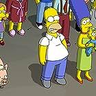 Julie Kavner, Nancy Cartwright, Dan Castellaneta, and Harry Shearer in The Simpsons Movie (2007)