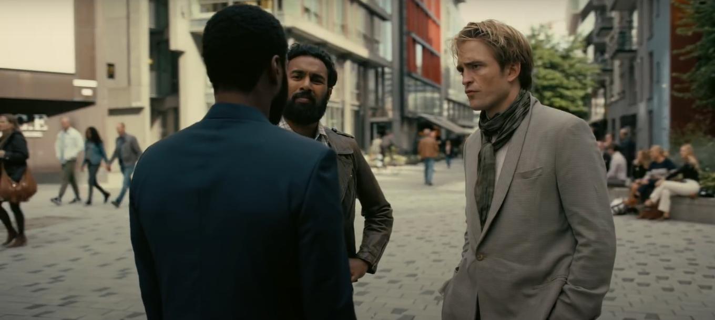 John David Washington, Robert Pattinson, and Himesh Patel in Tenet (2020)