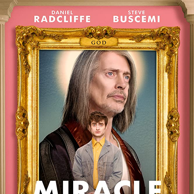 Steve Buscemi and Daniel Radcliffe in Miracle Workers (2019)