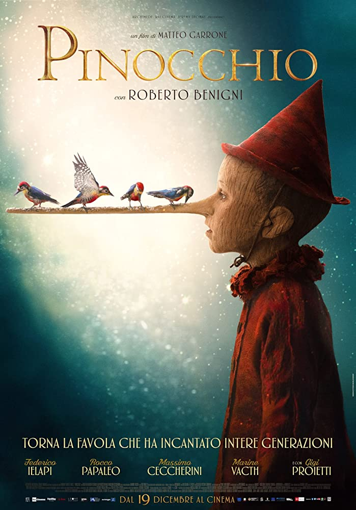 Pinocchio (2020) Dual Audio 720p HDCAM [Hindi Fun Dub – English] Full Movie Free Download