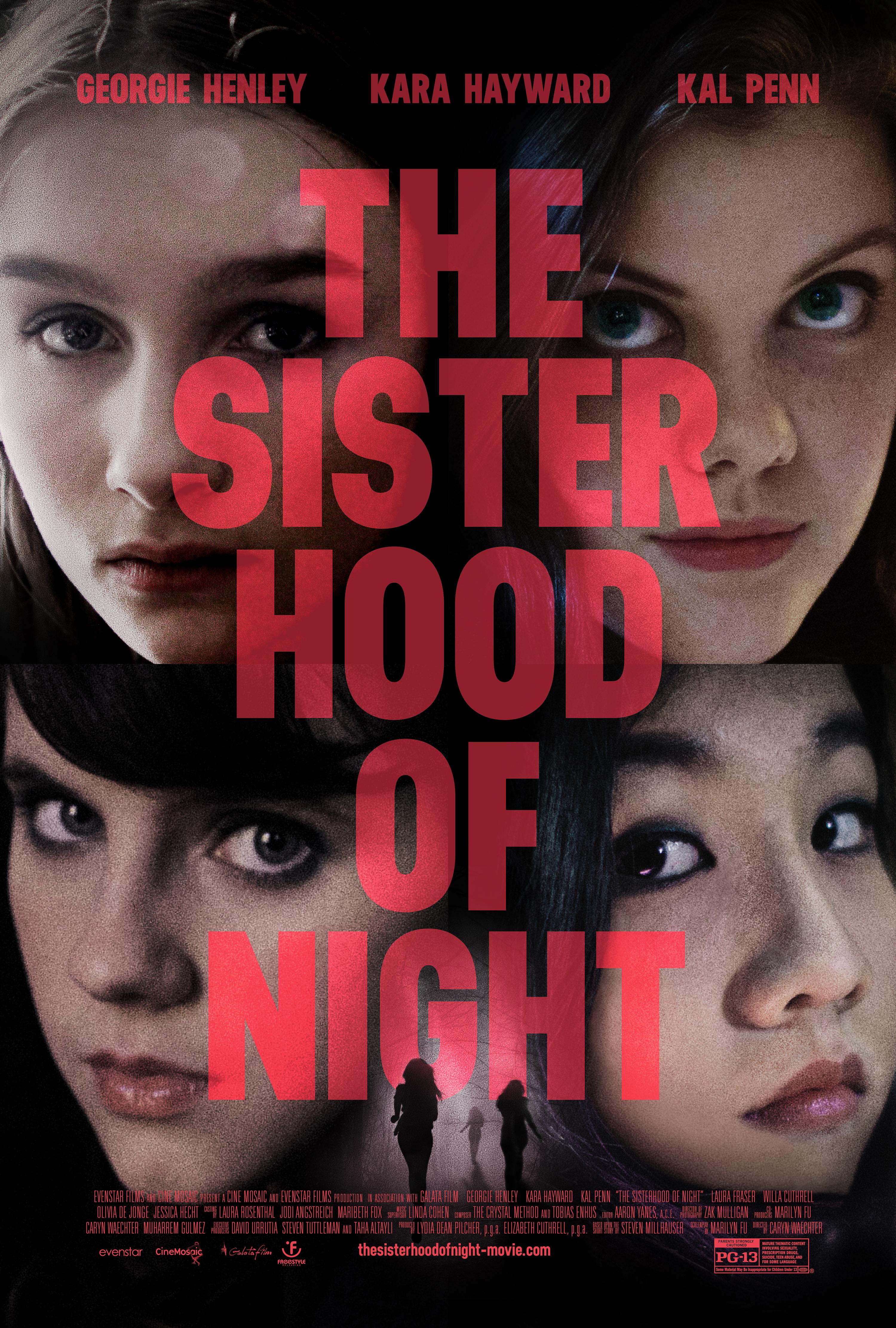 Willa Cuthrell, Georgie Henley, Kara Hayward, and Olivia DeJonge in The Sisterhood of Night (2014)