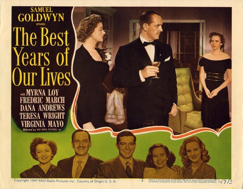 Myrna Loy, Fredric March, and Teresa Wright in The Best Years of Our Lives (1946)