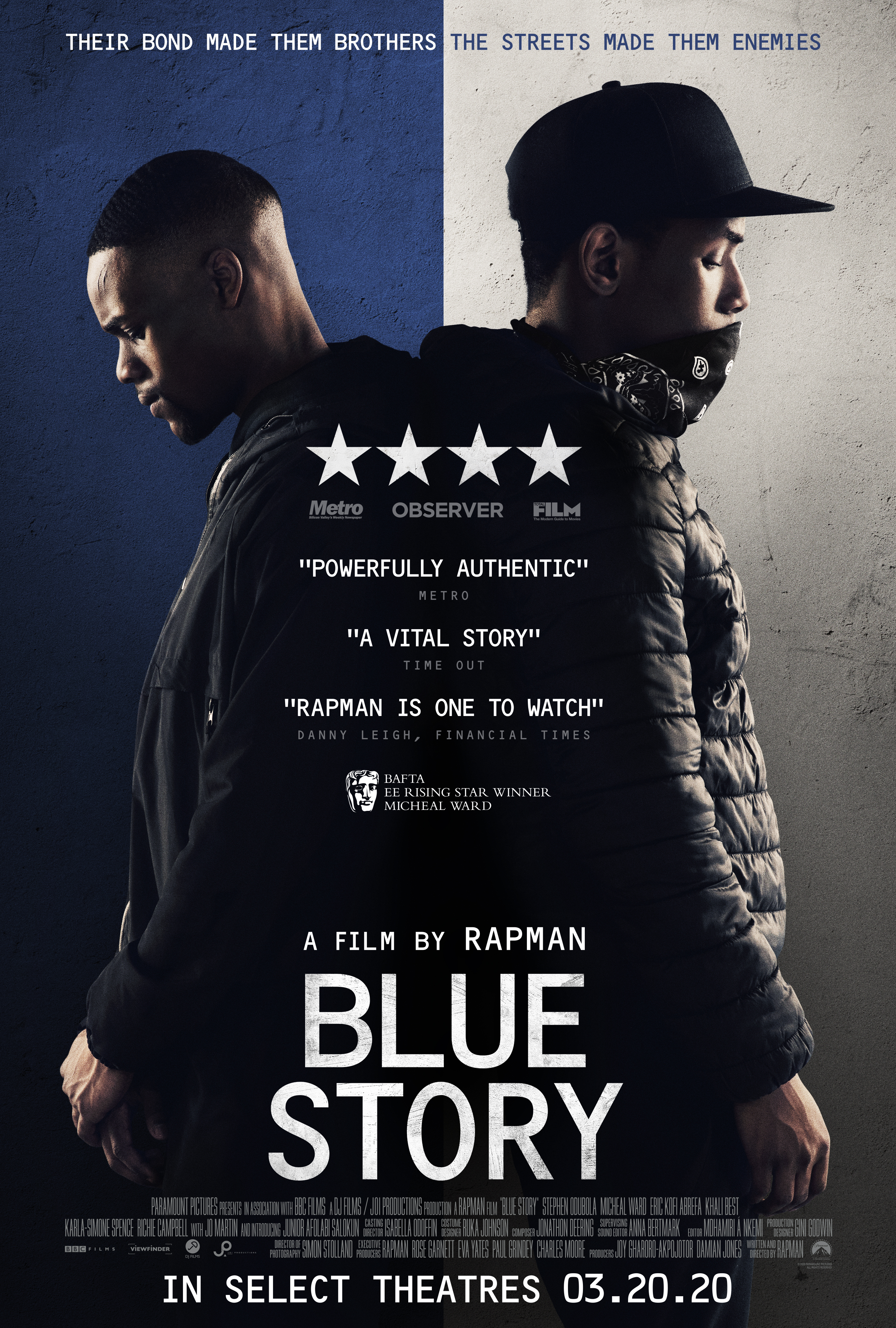 Stephen Odubola and Micheal Ward in Blue Story (2019)