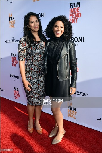 With Adrienne Rose White at the LA Film Festival opening night premiere of Low Riders