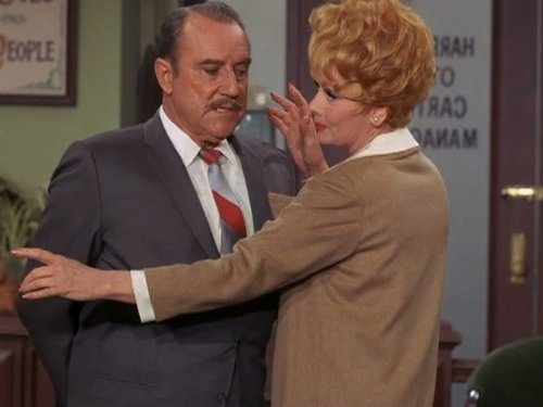 Lucille Ball and Gale Gordon in Here's Lucy (1968)