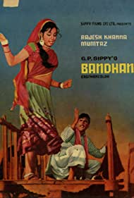 Rajesh Khanna and Mumtaz in Bandhan (1969)