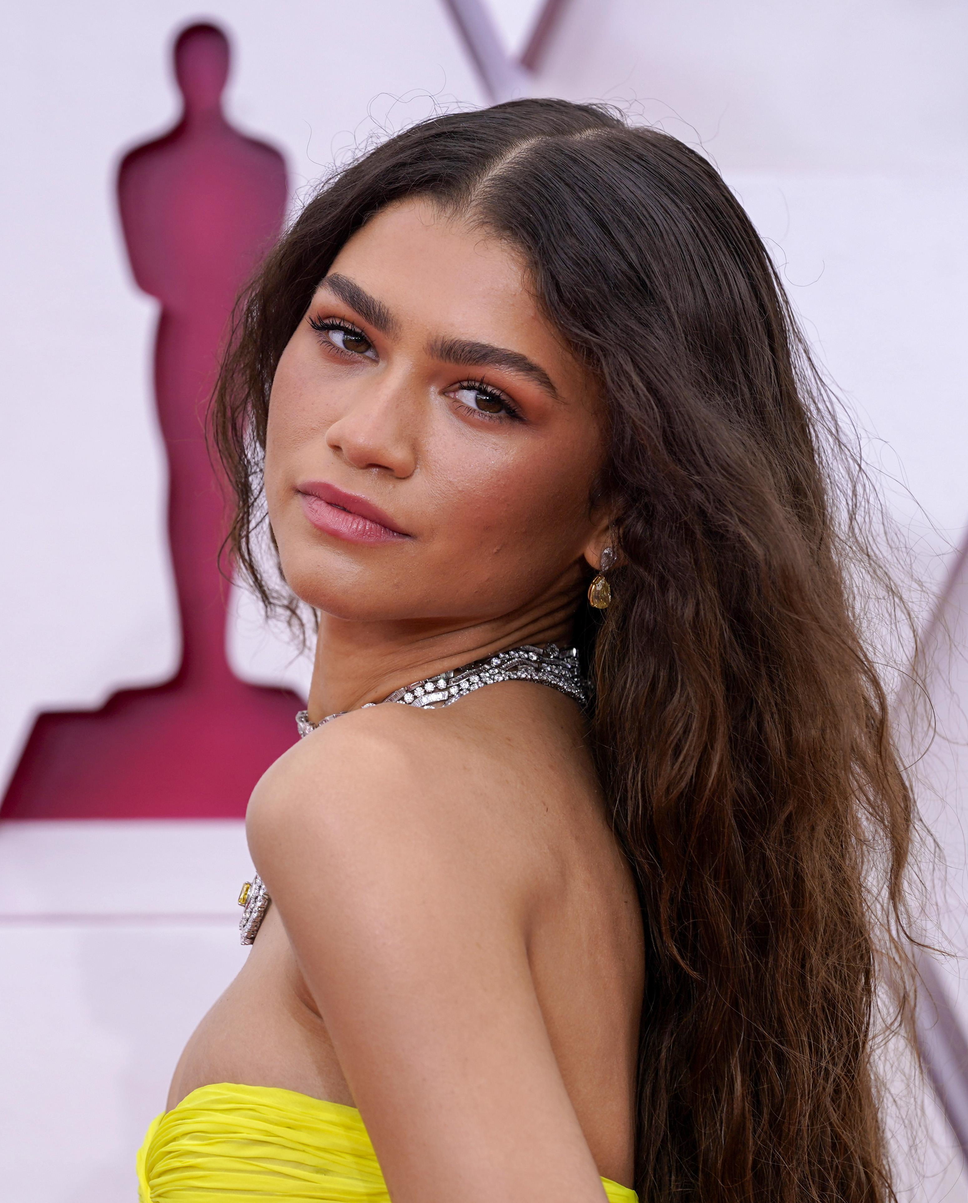 Zendaya at an event for The 93rd Oscars (2021)