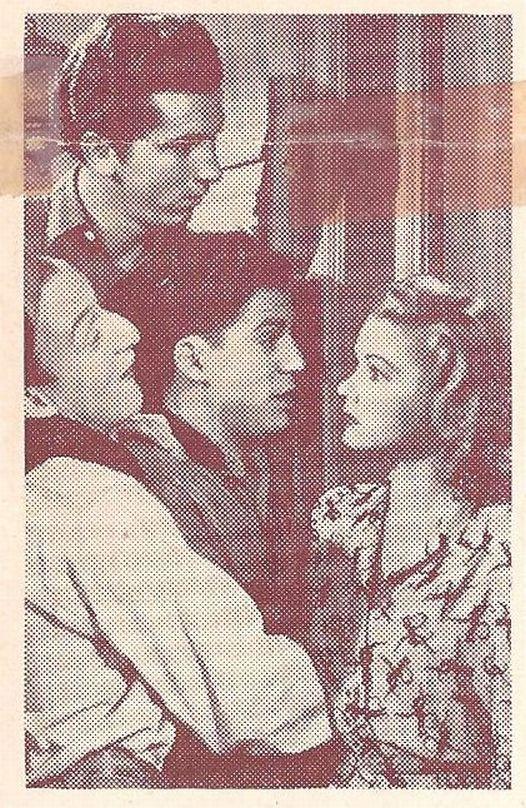 Gabriel Dell, Huntz Hall, Billy Halop, and Grace McDonald in Mug Town (1942)