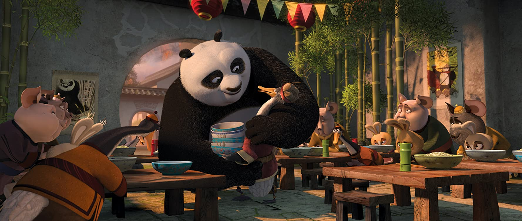Jack Black and James Hong in Kung Fu Panda 2 (2011)