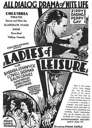 Barbara Stanwyck, Ralph Graves, Marie Prevost, and Lowell Sherman in Ladies of Leisure (1930)