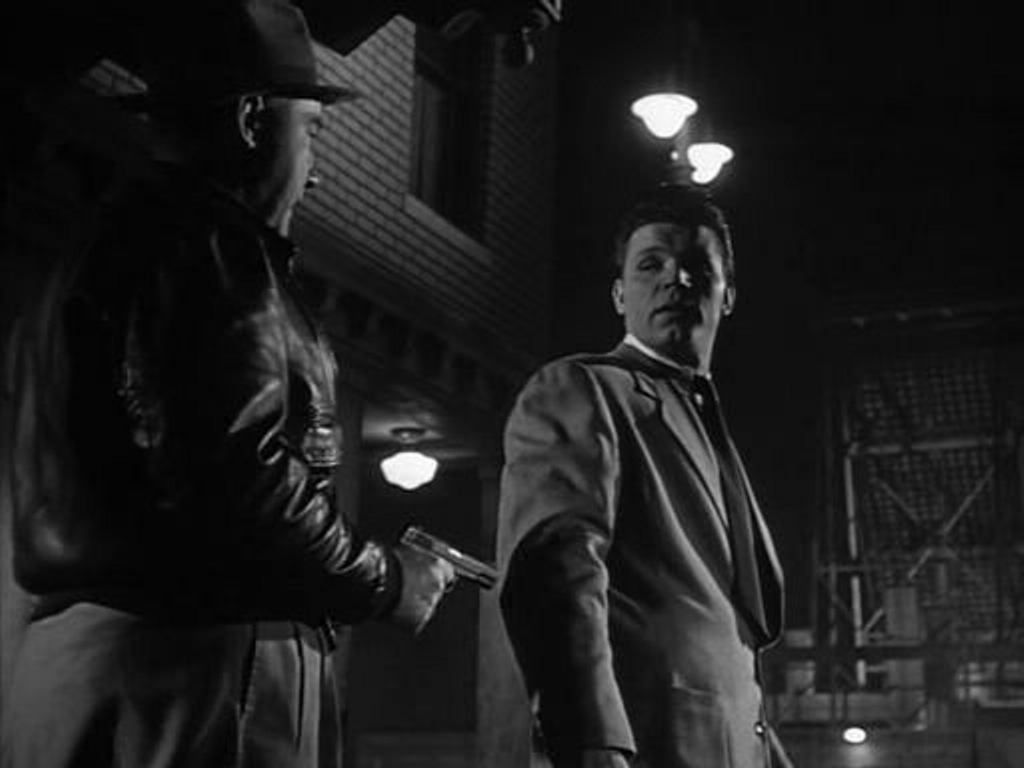 Broderick Crawford and Neville Brand in The Mob (1951)