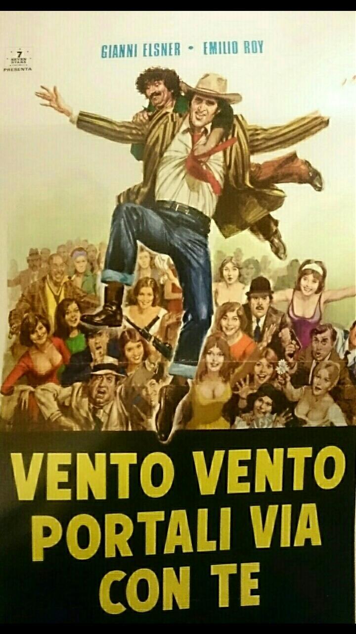 Giovanni Elsner and Emilio Roy in Vento, vento, portali via con te (1976)