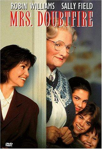 Robin Williams, Sally Field, Lisa Jakub, Matthew Lawrence, and Mara Wilson in Mrs. Doubtfire (1993)