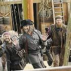 Hugh Bonneville, Daniel Hoffmann-Gill, and Adam Loxley in Galavant (2015)