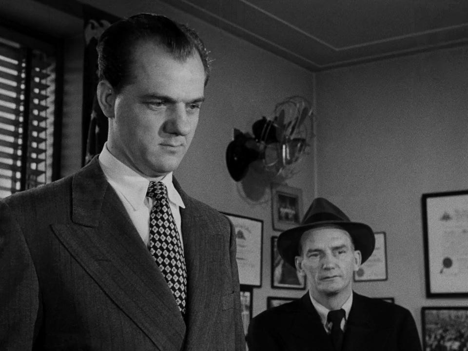 Karl Malden and Millard Mitchell in Kiss of Death (1947)