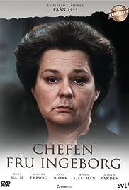 Chefen fru Ingeborg Poster