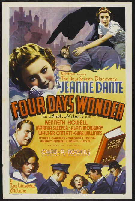 James Blaine, Walter Catlett, Russ Clark, Jeanne Dante, Kenneth Howell, Alan Mowbray, and Martha Sleeper in Four Days Wonder (1936)