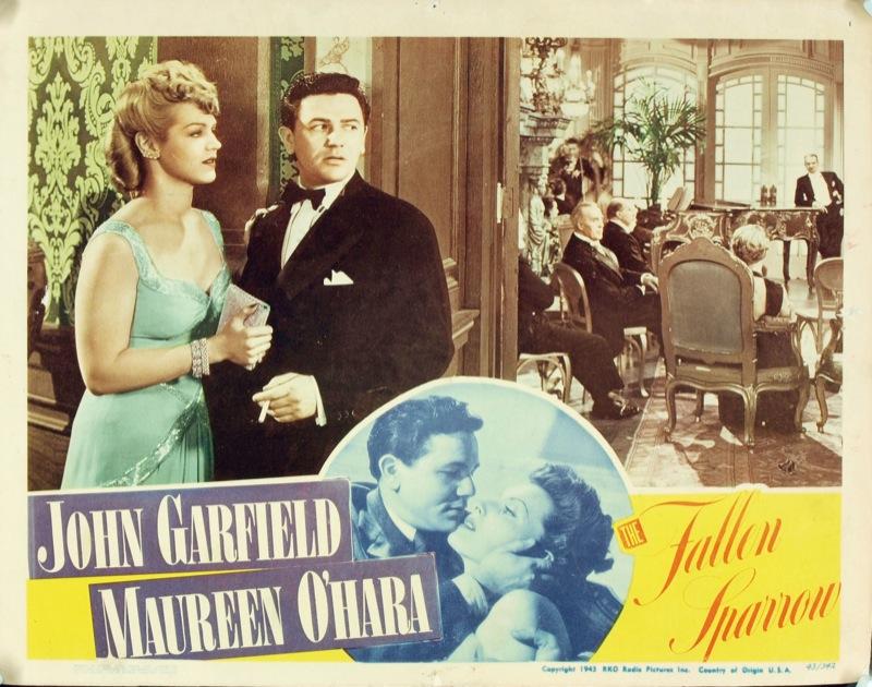 John Garfield, Margaret Landry, Martha O'Driscoll, and Al Rhein in The Fallen Sparrow (1943)