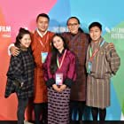 Ugyen Norbu Lhendup, Stephanie Lai, Sherab Dorji, Kelden Lhamo Gurung, and Pawo Choyning Dorji at an event for Lunana: A Yak in the Classroom (2019)