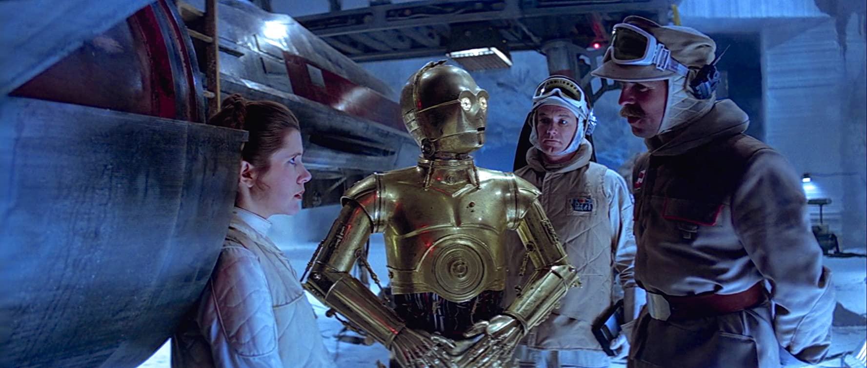Anthony Daniels, Carrie Fisher, John Ratzenberger, and Jack McKenzie in Star Wars: Episode V - The Empire Strikes Back (1980)