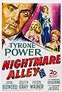 Tyrone Power, Joan Blondell, Coleen Gray, and Helen Walker in Nightmare Alley (1947)