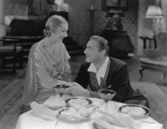 John Barrymore and Karen Morley in Arsène Lupin (1932)