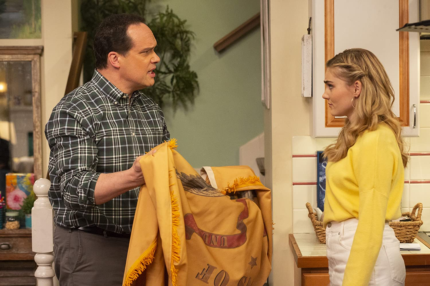 Diedrich Bader and Meg Donnelly in American Housewife (2016)