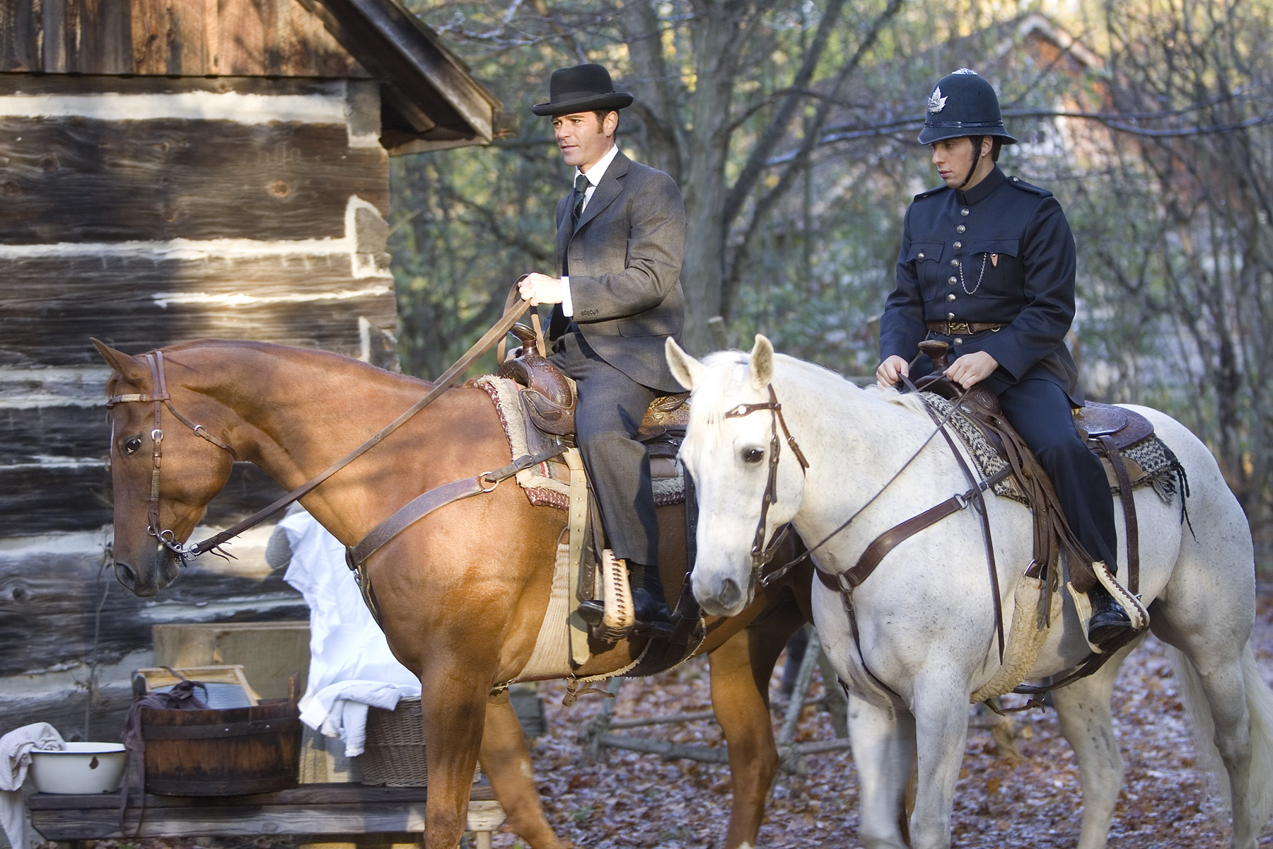 Yannick Bisson and Jonny Harris in Murdoch Mysteries (2008)