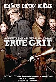 Jeff Bridges, Matt Damon, Josh Brolin, and Hailee Steinfeld in True Grit (2010)