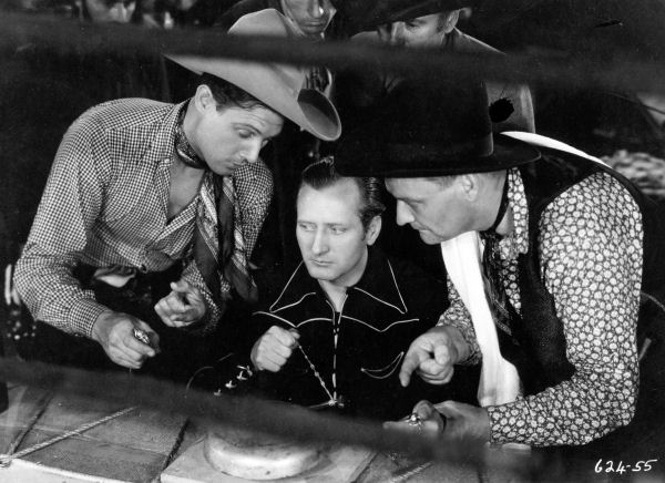 Robert Livingston, Max Terhune, and Wally West in Ghost-Town Gold (1936)