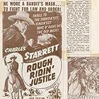 Jack Ingram, Wheeler Oakman, Charles Starrett, and Betty Jane Graham in Rough Ridin' Justice (1945)
