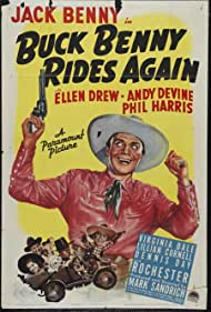 Jack Benny, Eddie 'Rochester' Anderson, Andy Devine, and Ellen Drew in Buck Benny Rides Again (1940)