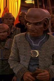 Jason Marsden, Emilio Borelli, Chase Masterson, Max Grodénchik, and David B. Levinson in Star Trek: Deep Space Nine (1993)