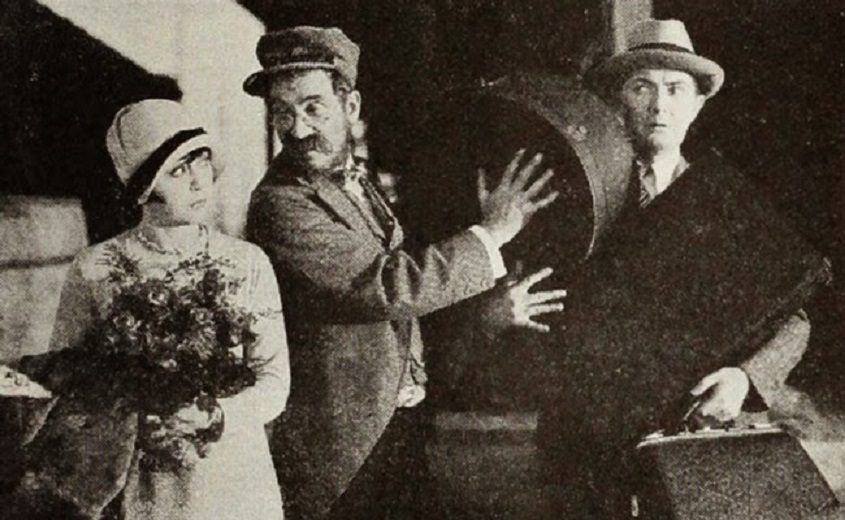 Johnny Burke, Andy Clyde, and Thelma Hill in The Bride's Relations (1929)